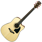 Ibanez Artwood Acoustic/Electric Guitar Solid Spruce Top, Natural AW3000CENT