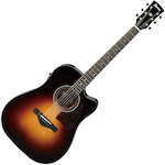 Ibanez Artwood Acoustic/Electric Guitar All Solid, Brown Sunburst AW4000CEBS