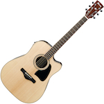 Ibanez Artwood Acoustic/Electric Guitar Solid Spruce Top, Natural AW535CENT