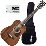 Ibanez AW54MINI Solid Top Acoustic Guitar with Tuner AW54MINIGBOPN-CU1