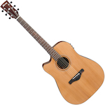 Ibanez Artwood Acoustic/Electric Guitar Solid Cedar Top, Low Gloss AW65LECELG