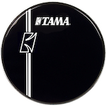 Tama 22 inch Hyperdrive Logo Drum Head, Black BK22BMLI