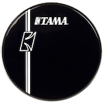 Tama 24 inch Hyperdrive Logo Drum Head, Black BK24BMLI