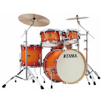 Tama CL50RS Superstar Classic 5 Piece Shell Kit, Tangerine Lacquer Burst CL50RSTLB