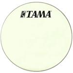 Tama 18 inch Silverstar Logo Drum Head, Vintage White CT18BMSV
