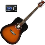 Ashton D20EQ Acoustic Electric Guitar with Tuner, Tobacco Sunburst D20EQTSB-CT170
