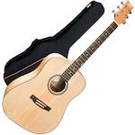 Ashton Acoustic Guitar and Bag D20NTM-ARM300W