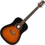 Ashton Acoustic Guitar, Tobacco Sunburst D20TSB