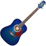 Ashton Acoustic Guitar, Trans Blue Burst D24TBB