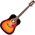 Ashton Acoustic Guitar, Tobacco Sunburst D24TSB