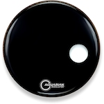Aquarian Regulator 20 inch Bass Drum Head w/Off Centre Hole DAARSM20BK
