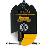 Ibanez Patch Cable Double Angle Jack Cloth Black DSC05LLBK
