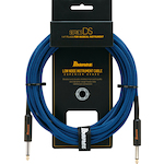 Ibanez Guitar Cable 10 Foot Cloth Covered, Low Noise, Blue DSC10BL