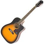Epiphone Guitar AcousElec AJ-220SCE Solid Top Vintage Sunburst EE2SVSNH3