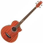 Ibanez Exotic Wood Acoustic Bass, Paduuk Natural EWB30PDERLG