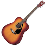 Yamaha Acoustic Guitar Package, Brown Sunburst F310PTBS