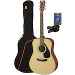 Yamaha F325 Acoustic with Guitar Bag and Clip-on Tuner F325-ARM600W-CPT25