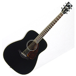Yamaha Acoustic Guitar, Solid Top, Black FG720SBL