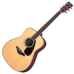 Yamaha Acoustic Guitar, Solid Top, Natural FG720SNT