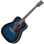 Yamaha Acoustic Guitar, Solid Top, Blue FG720SOBB