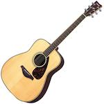 Yamaha FG Acoustic Guitar, Solid Top, Natural FG730SNT