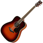 Yamaha Solid Top Acoustic Guitar, Brown Sunburst FG820BS