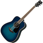 Yamaha Solid Top Acoustic Guitar, Sunset Blue FG820SB