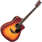 Yamaha FGX Acoustic Electric Guitar, Solid Top w/ Cutaway, Brown Sunburst FGX720SCBS