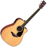 Yamaha FGX Acoustic Electric Guitar, Solid Top w/Cutaway, Natural FGX720SCNT