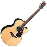 Yamaha FJX Acoustic Electric Guitar, Solid Top Jumbo, Natural FJX730SCNT