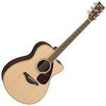 Yamaha FJX Acoustic Electric Guitar, Solid Top w/ Cutaway FSX730SCNT
