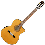 Ibanez Classical Acoustic/Electric Guitar Thin Body, Amber GA5TCEAM