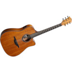 Lag Dreadnought Cutaway Electric Guitar Natural GLAT77DCE