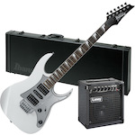 Ibanez GRG150DX Electric Guitar with Laney LX12 Amp and Case Package, Pearl White GRG150DXPW-W101RG-LX12