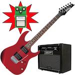 Ibanez GRX22 Electric Guitar, Hiwatt G208R and TS9, Candy Apple GRX22CA-G208R-TS9