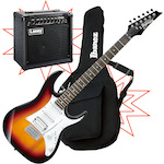 Ibanez GRX40 Electric Guitar with Laney Amp and Bag GRX40TFB-LX20R-IGB101