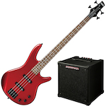 Ibanez GSR Bass Guitar Gio Candy Apple with P20 Promethean Amplifier GSR320CA-P20