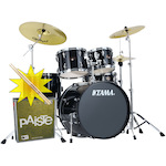 Tama Imperialstar Drum Kit with Paiste Cymbals and FREE Sticks, Black IP52KH6BK-PA014USET