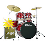 Tama Imperialstar Drum Kit with Paiste Cymbals and FREE Sticks, Candy Apple Mist IP52KH6CPM-PA014USET