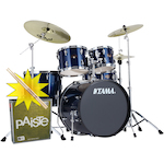 Tama Imperialstar Drum Kit with Paiste Cymbals and FREE Sticks, Midnight Blue IP52KH6MNB-PA014USET