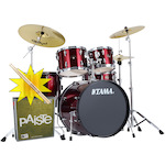 Tama Imperialstar Drum Kit with Paiste Cymbals and FREE Sticks, Vintage Red IP52KH6VTR-PA014USET