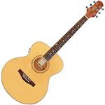 Ashton Solid Top ¾ Mini Jumbo Electric Acoustic Guitar, Natural Matt JJR49SEQNTM