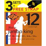 Rotosound Jumbo King 12-54 Acoustic Strings 3 Pack JK123PK