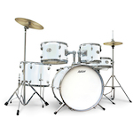 Ashton Junior Drum Kit, White JOEYDRUMSWH