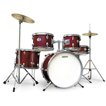 Ashton Junior Drum Kit, Wine Red JOEYDRUMSWR