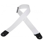 Levy's Guitar Strap, 2in Cott/Poly White M8POLYWHT