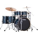 Tama Superstar Hyperdrive Custom Maple 6-piece Drum Kit, Indigo Lacebark Pine ML62HZBNSPILP
