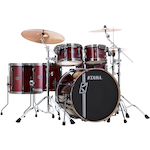 Tama Superstar Hyperdrive Custom Maple 6-piece Drum Kit, Red Lacebark Pine ML62HZBNSPRLP