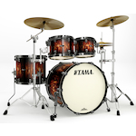 Tama Starclassic Maple 4-piece Shell Kit, Molten Brown Burst MP42ZBNSMBB