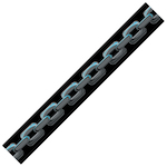 Levy's Guitar Strap, Poly Chain MPS2020